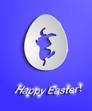 Easter egg with bunny silhouette Royalty Free Stock Images