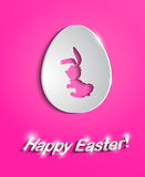 Easter egg with bunny silhouette Stock Photo