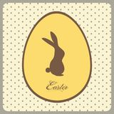 Easter egg with bunny and text on vintage background Royalty Free Stock Photos