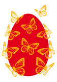 Easter egg with butterflies,  Stock Photo