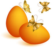 Easter egg with butterflies Royalty Free Stock Image