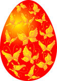 Easter egg with butterflies, vector illustration Royalty Free Stock Photography