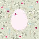 Easter egg with butterfly Royalty Free Stock Photos