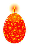 Easter egg candle Stock Photos