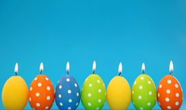 Easter egg candles Royalty Free Stock Image