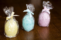 Easter egg candles Stock Images