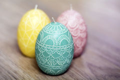 Easter egg candles Royalty Free Stock Photography