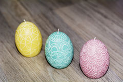 Easter egg candles Stock Photography