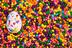 Easter egg on candy Royalty Free Stock Photo