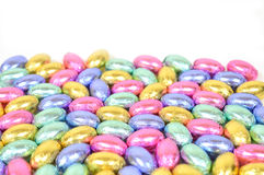 Easter egg candy. Group of colorful easter egg candy on white Royalty Free Stock Photo