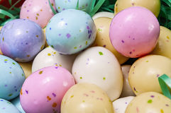 Easter egg candy,basket Stock Photos