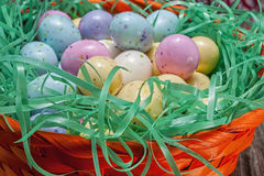 Easter egg candy,basket Stock Photography