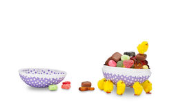 Easter egg with candy Royalty Free Stock Images