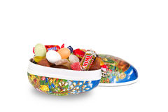 Easter egg with candy Royalty Free Stock Image