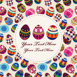 Easter egg card. Vector drawing Stock Photography