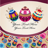 Easter egg card Royalty Free Stock Image