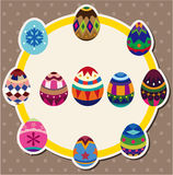 Easter egg card Stock Photos