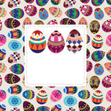 Easter egg card Royalty Free Stock Photography
