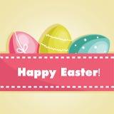 Easter egg card. Vector illustration Royalty Free Stock Image