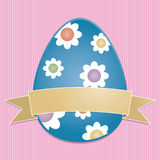 Easter egg card Royalty Free Stock Photo