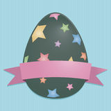Easter egg card Stock Photo
