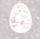Easter egg card with floral pattern. Stock Image