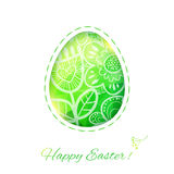Easter Egg card with flower. Vector illustration, can be used as Stock Photography