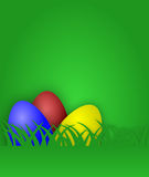 Easter egg card with grass Stock Photo