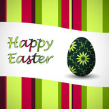 Easter egg card green Stock Photography