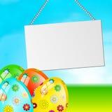 Easter egg card vector illustration