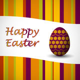 Easter egg card orange Royalty Free Stock Photography
