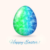 Easter Egg card in polyygonal style. Vector illustration Stock Photo