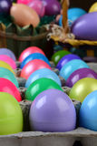 Easter Egg Carton Closeup Stock Photo