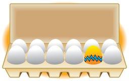 Easter egg in a Carton Royalty Free Stock Photos