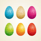 Easter Egg Carving Royalty Free Stock Images
