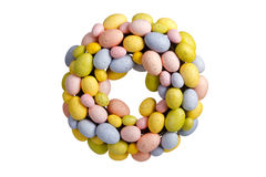 Easter egg chaplet. Isolated on white background Stock Photography