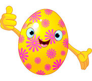 Easter Egg Character giving thumbs up Royalty Free Stock Photos