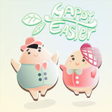 Easter egg characters Royalty Free Stock Images