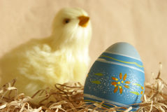 Easter Egg and Chick Royalty Free Stock Image