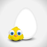 Easter egg with chicken. Stock Image