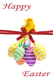 Easter Egg Chicken hanging Royalty Free Stock Image