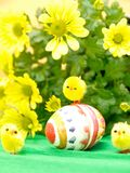 Easter Egg and Chicks Royalty Free Stock Image