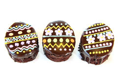 Easter egg chocolate cakes Stock Photos