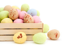 Easter egg chocolate candy Royalty Free Stock Images