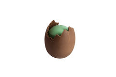 Easter egg chocolate. A easter egg with surprise Royalty Free Stock Images
