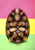 Easter egg chocolates Royalty Free Stock Photo
