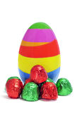 Easter egg and chocolates Royalty Free Stock Image