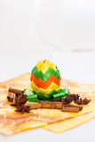 Easter egg cinnamon sticks Royalty Free Stock Image