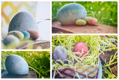 Easter Egg Collage Royalty Free Stock Images