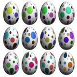 Easter Egg Collection Stock Photo